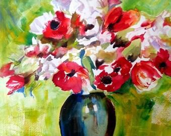 Renoir Vase Greeting Card