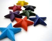 CRAYONS NATURAL Eco Friendly Handmade Soy Earth Star Crayons (Set of 8) Eco Toy, Kids Gift, Party Favor, Earth Day