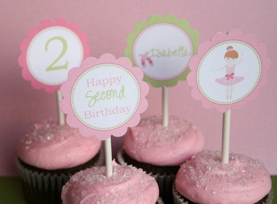 PRINTABLE Party Punchables - Sweet Ballerina Collection - by Tweedle Dee Designs