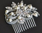 Bridal  COMB  with CREAM  Swarovski Pearls,Bridal comb,Bridal Hair comb,wedding comb,wedding hair comb , bridal head piece