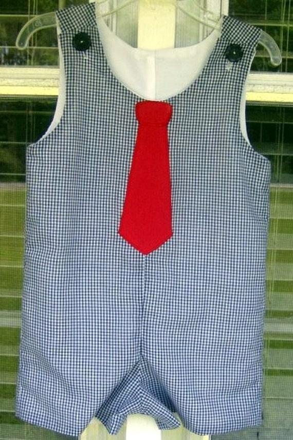 Daddy's tie jon jon blue gingham red tie