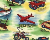 TRANSPORTATION BY MICHAEL MILLER - 1\/2 YARD REMNANT - QUILT WEIGHT
