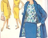 Vintage 1960's Simplicity Misses Walking Suit And Blouse Sewing Pattern