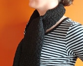 Black Scarf - Textured Scarf