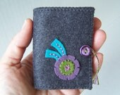 Hand Embroidered Wool Felt Needle Book
