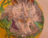 Cat Wall Pocket Urn Box Portrait - Custom Order