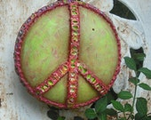 Peace Sign Eco Gourd Wall Art - shipping included