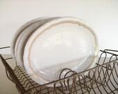 Vintage Oval Shenango Restaurant Ware with Gold Trim
