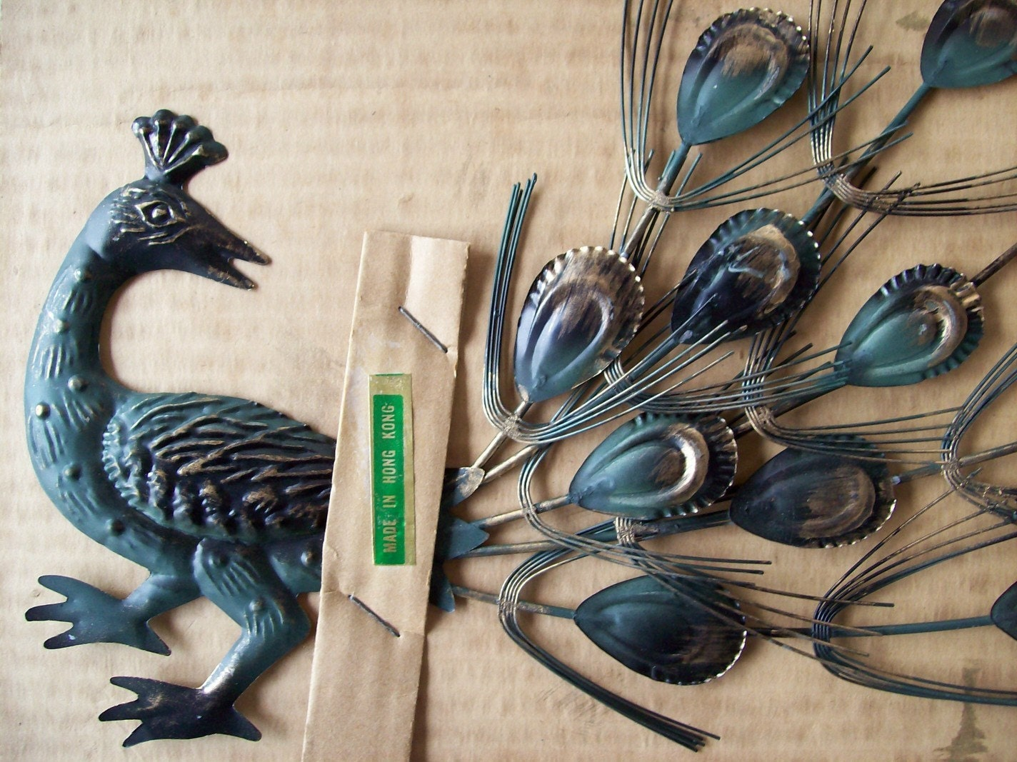 Vintage Metal Peacock Wall Decor By Realjunk On Etsy