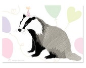 Greeting Card - Birthday Badger