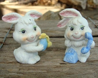 Ardco Miniature Bunny Rabbit Couple Vintage