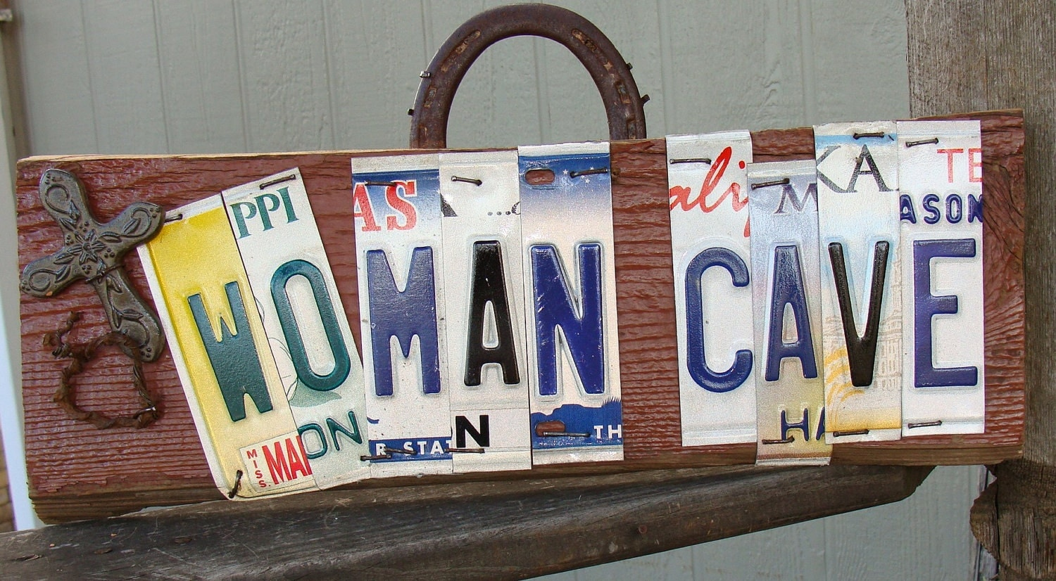 Man Cave For Women : Woman cave license plate barn wood man sign