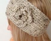 Crochet  Head Warmer  Oatmeal