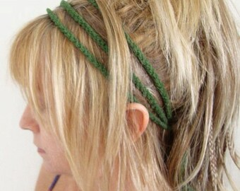 comfy crochet 3 strand head band pick your color