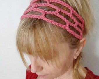 Crochet Trellis Head Band Pick your Color