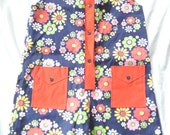 SALE 1960's GILRS FLORAL Onesie / Children's Romper by Playtown Size 12