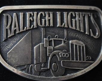 Sale VINTAGE BELT BUCKLE Raleigh Truck Lover Brass Belt Buckle