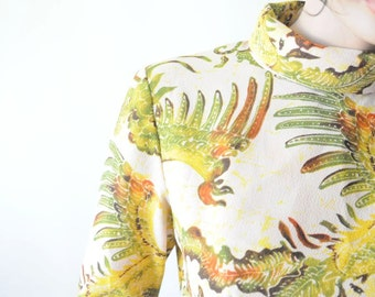 DRESS SALE 70's GOWN Vintage Dress / Safari Maxi Dress