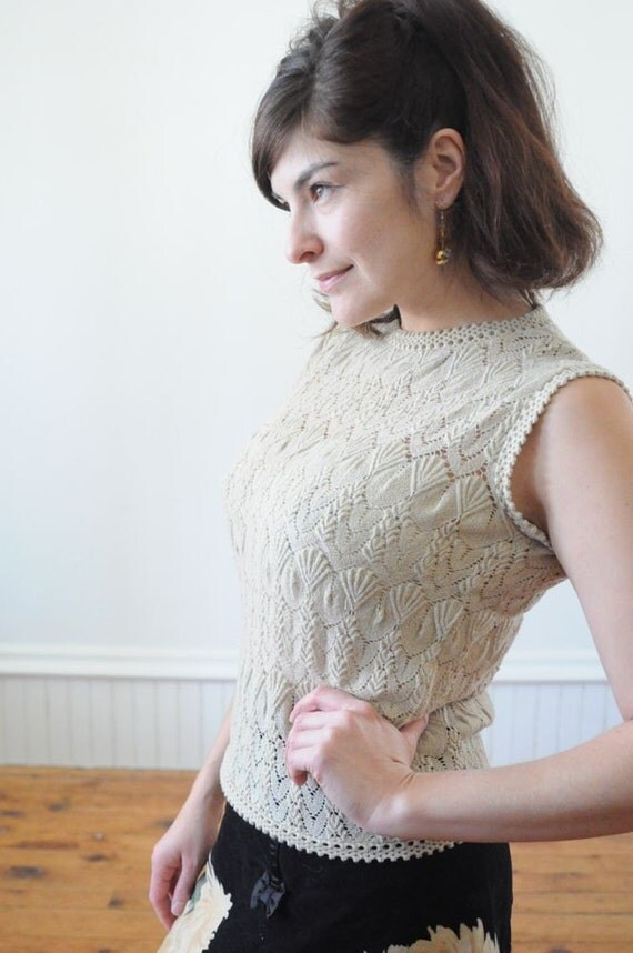 60' s Metallic Knit Top / Tank / Shirt / Blouse Spring 2012 Trends