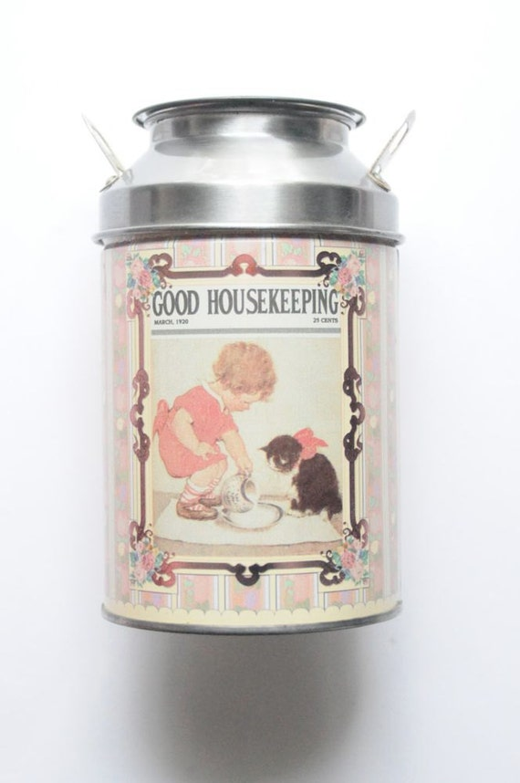 1920's HEARST PRINT Good Housekeeping Re Production Print on Tin Can