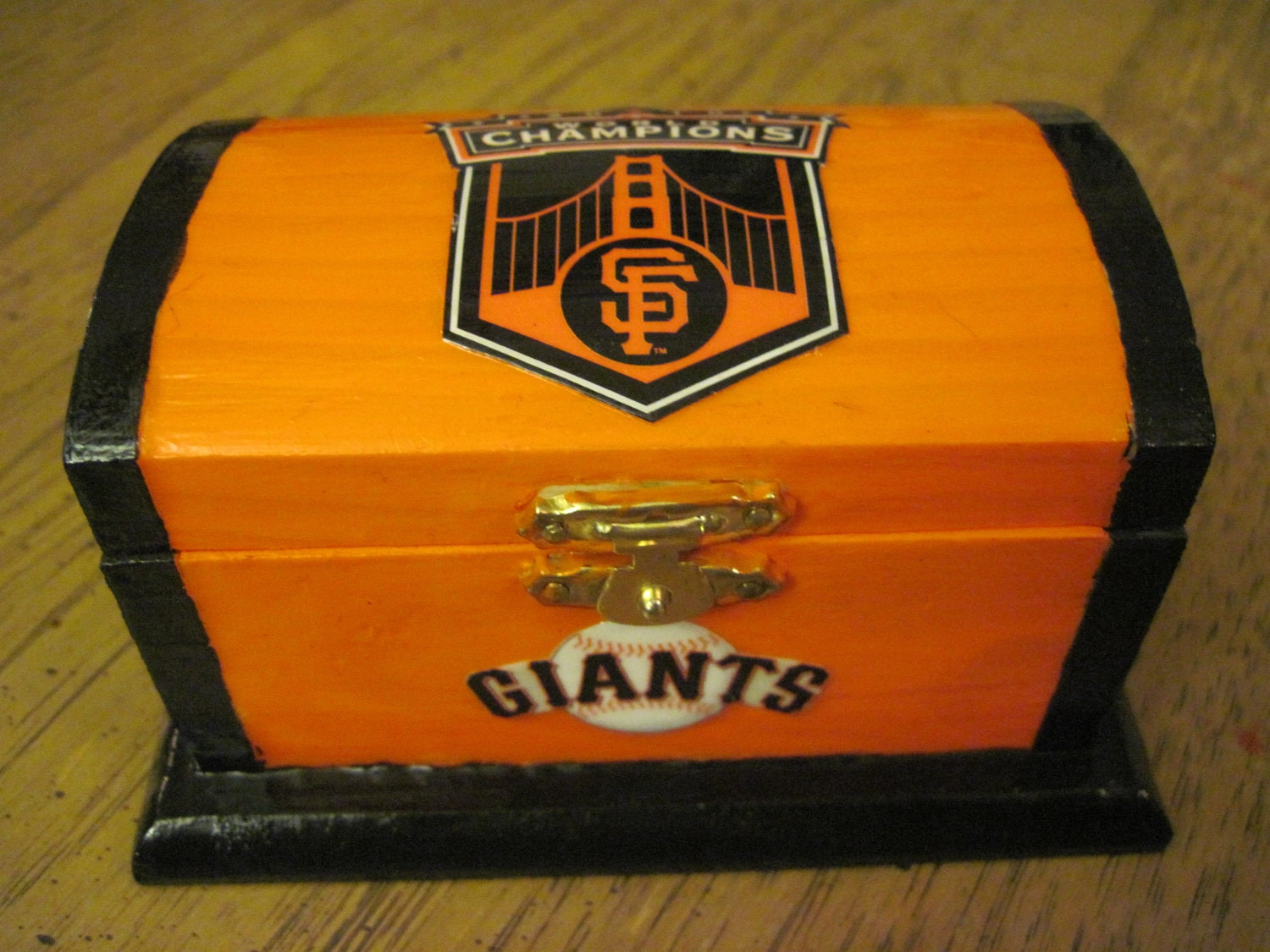 San francisco giants handmade wooden trinket box for San francisco handmade jewelry