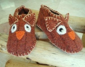 Woodland Owl Slippers for Baby Wool Felt by Rusticpatriotgirl on Etsy