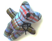 Classic Plaid Wool Bear Plush