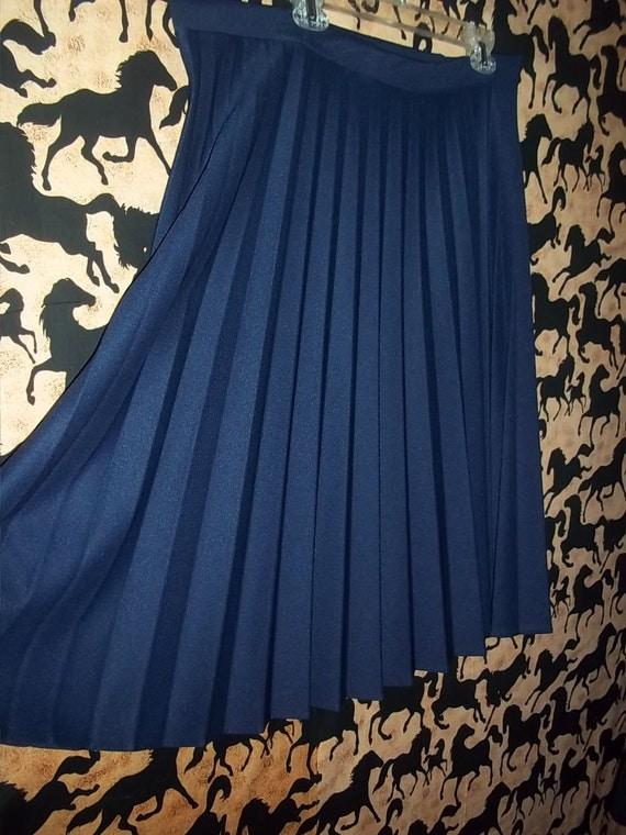 SALE Plus Size Navy Pleated accordian style Skirt xl xxl xxl 1x