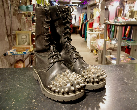 Spiked Combat Boots Size 9 Men's