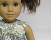 AMERICAN GIRL DOLL CLOTHES - Paisley Paradise Oufit in Ocean by MissSissy