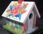 Hand Painted Birdhouse