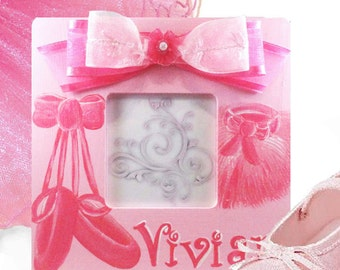 Hand Painted Personalized Ballet Picture Frame