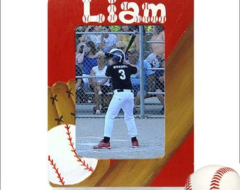 Hand Painted, Personalized Baseball Frame