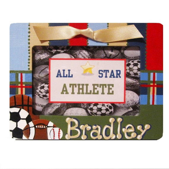 Hand Painted, Personalized Sports Frame