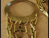 Yomi Brass Chain Hoop Earrings