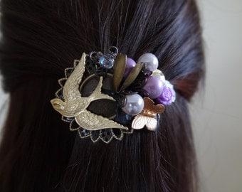 Sweet Lavender Hair Barrette