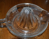 Vintage, Clear Glass, Juicer ,Old Reamer, Kitchen,  Accesory , Juice Extractor , Citrus