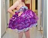 ffflockmade SUGAR PLUM POOF cellophane party dress