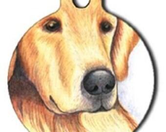 Golden Retriever Dog Tag - Custom, Metal, Fully Personlized - Higher Quality