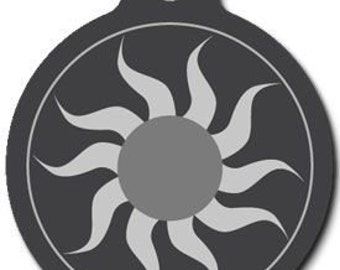 Cool Sun Pet Tag - Custom, Metal, Fully Personlized - Higher Quality