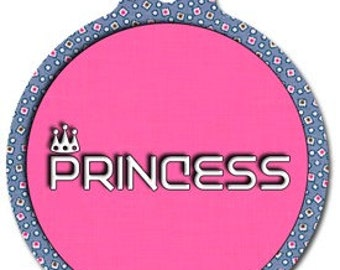 Princess Pet ID Tag - Custom, Metal, Fully Personlized - Higher Quality