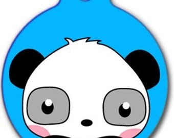 Cheery Panda Pet Tag - Custom, Metal, Fully Personlized - Higher Quality