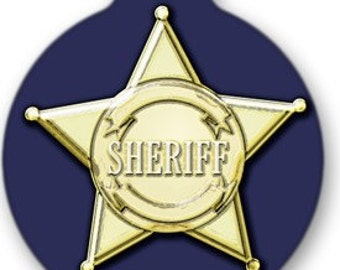 Sheriff Badge Dog ID Tag - Custom, Metal, Fully Personlized - Higher Quality
