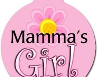 Mamas Girl Pet ID Tag - Custom, Metal, Fully Personlized - Higher Quality