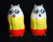 Candy Corn Owls - Handcast Resin Toys