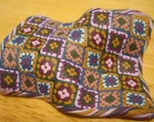 Polymer clay granny square afghan tutorial: How to make a miniature knit or crochet blanket