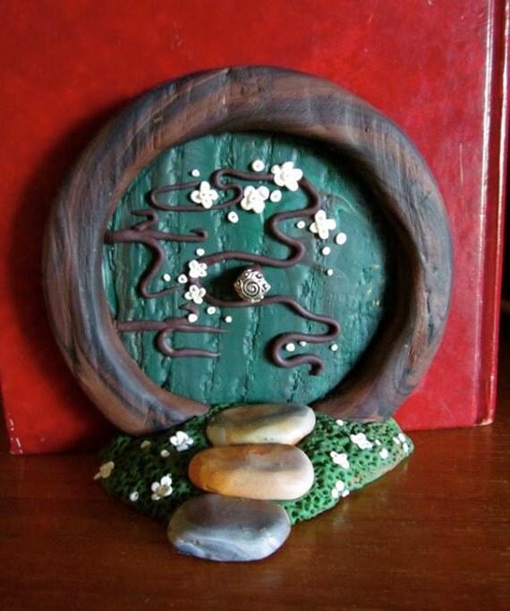 Polymer Clay Hobbit Door by Meg Newburg