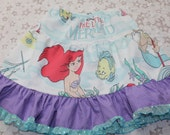Little Marmaid Sparkle and Twirl Skirt TuTu Pettiskirt OOAK Girl's sz 6X/7/8 - Ready to Ship