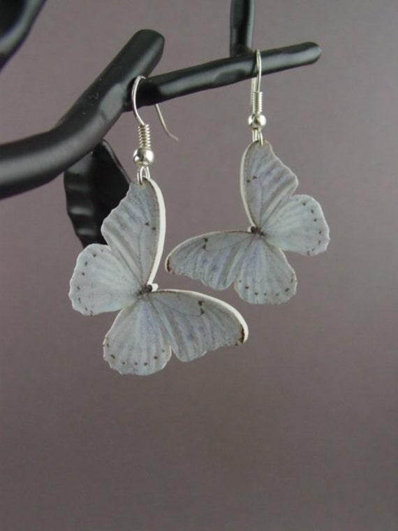 Butterfly Earrings White