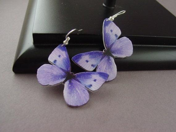 Butterfly Earrings Lilac